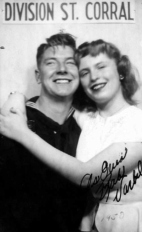 Gloria and Bob at the D Street -1950 - Courtesy of Gloria's daughter, Cindy Demuth