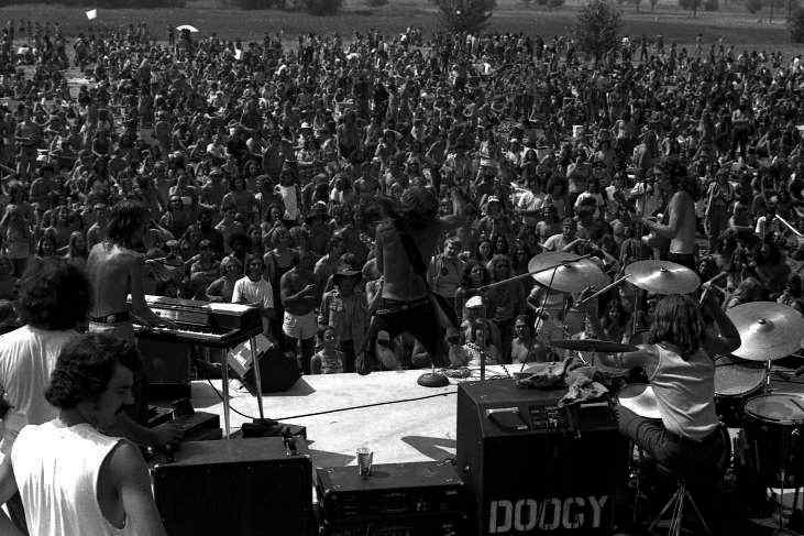 Doogy at Shot at Summer Festival, 1973 - Photo by Lloyd Phillips