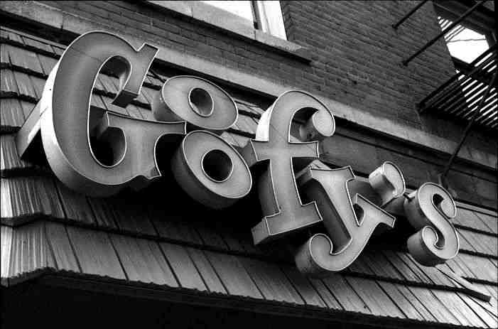Goofy's Sign in 1972 - Photo courtesy of James McFarlane