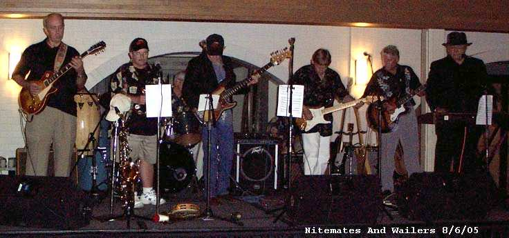 The Nitemates and the Wailers together on stage in 2005 - Courtesy of Tim Coleman