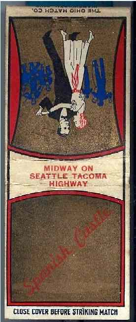 Matchbook Cover Courtesy of Mike Kaup