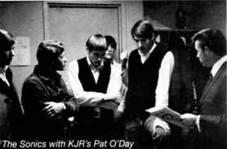 The Sonics with Pat O'Day  -  Courtesy of Christin P.