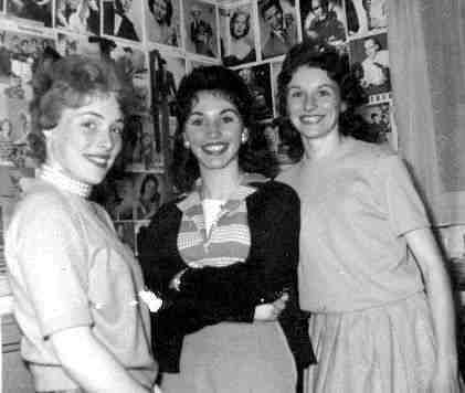 The Valentines - Miki (left) Nancy (middle) and Joy (right)  Photo taken at a rehearsal in 1961 at Evan Kemp's home.