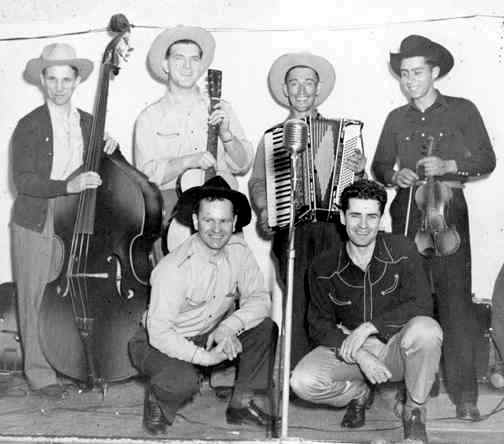 Roger Crandall and the Barn Dance Boys at Glide Hall - 1948 - Photo Courtesy of Judy Budge