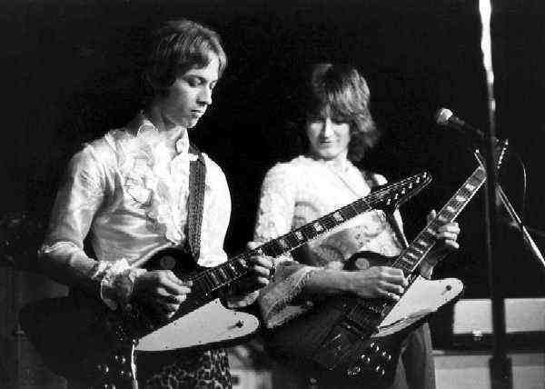 Rick Randle and Mick Flynn.  Dig the Firebird Guitars!  Photo by Richard Green.  Provided Courtesy of Mick Flynn