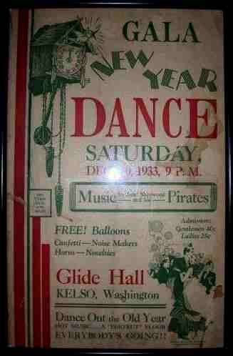 Glide Hall New Year Dance, 1933 - Image courtesy of Roberta Bryan