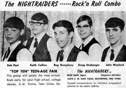 The Nightraiders - From a 1966 Teen Fair Program - Courtesy of Pat Maloney