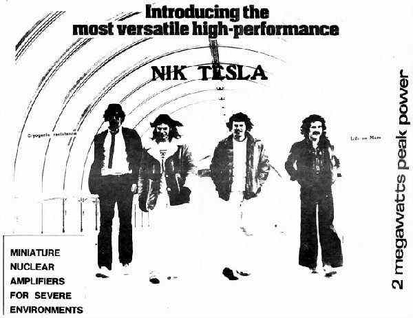 Nik Tesla Early Promo photo - Courtesy of Brian Bell