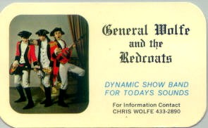 Redcoats Business Card Courtesy of Chris Wolfe