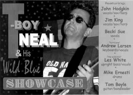 T-Boy Neal and His Wild Blue Showcase - Photo Courtesy of Tom Boyle
